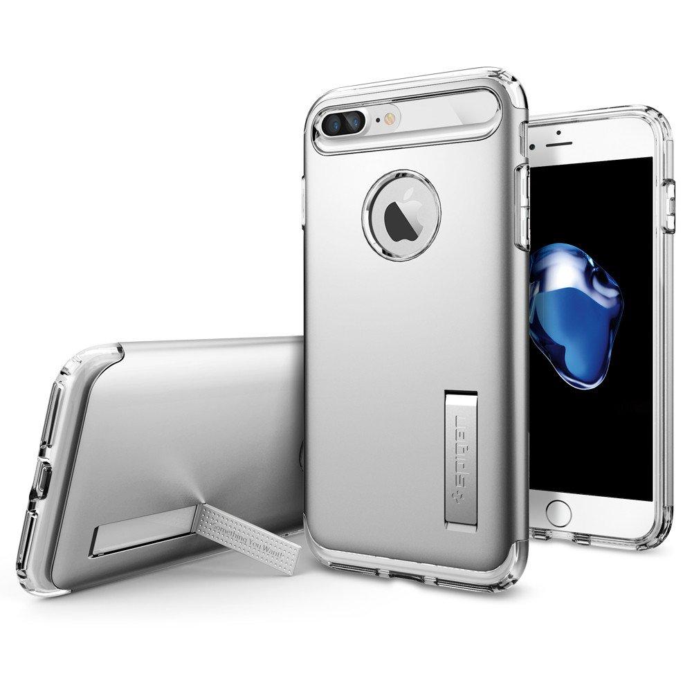 Pouzdro / kryt pro Apple iPhone 7 PLUS / 8 PLUS - Spigen, Slim Armor Satin Silver