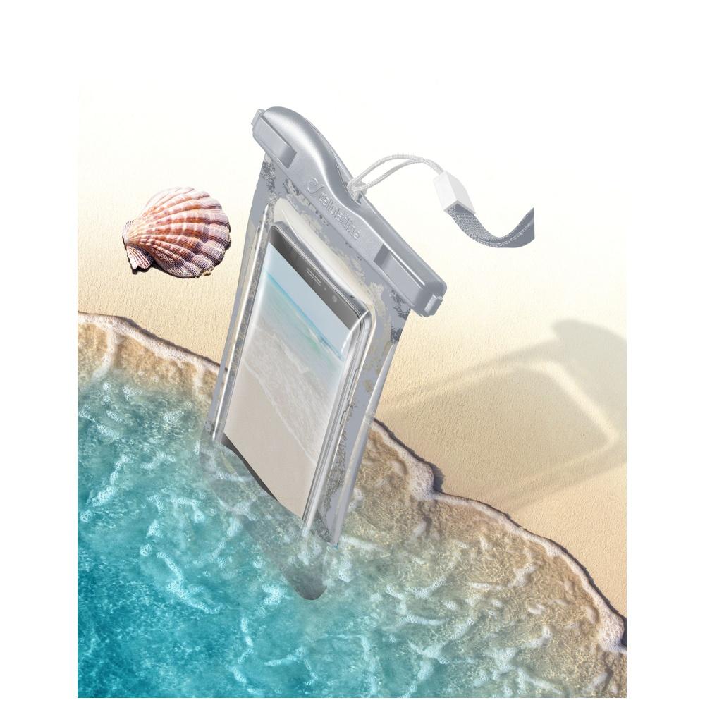 Voděodolné pouzdro pro iPhone - Cellularline, VOYAGER Silver