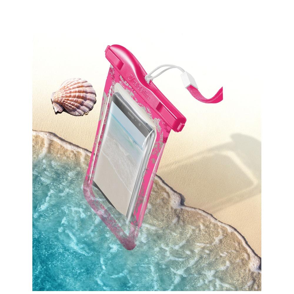 Voděodolné pouzdro pro iPhone - Cellularline, VOYAGER Pink