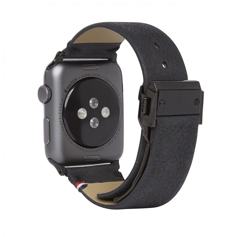 Kožený pásek / řemínek pro Apple Watch 42mm - Decoded, Leather Strap Black