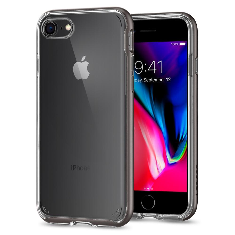 Ochranný kryt pro iPhone 7 / 8 - Spigen, Neo Hybrid Crystal 2 Gunmetal