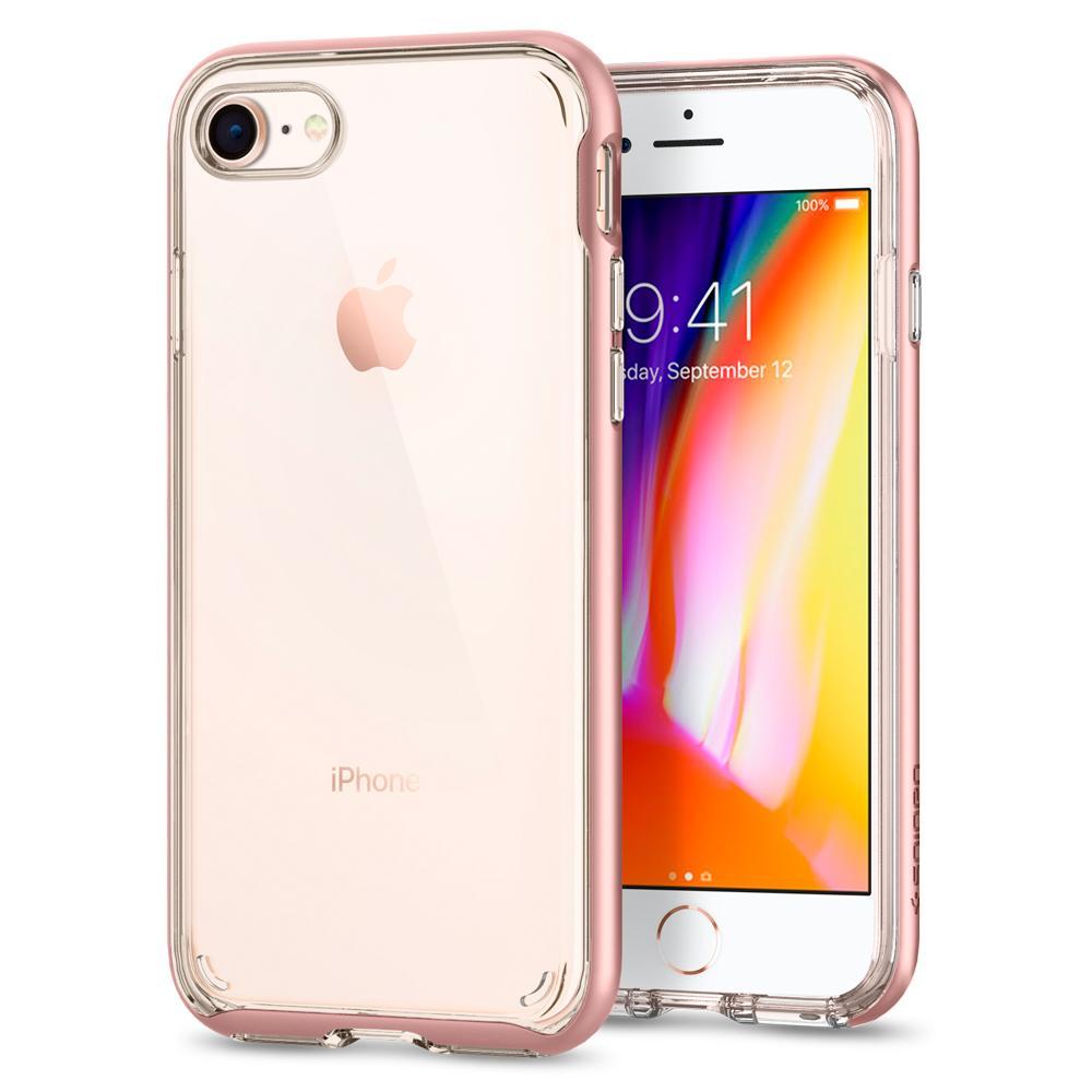Ochranný kryt pro iPhone 7 / 8 - Spigen, Neo Hybrid Crystal 2 Rose Gold