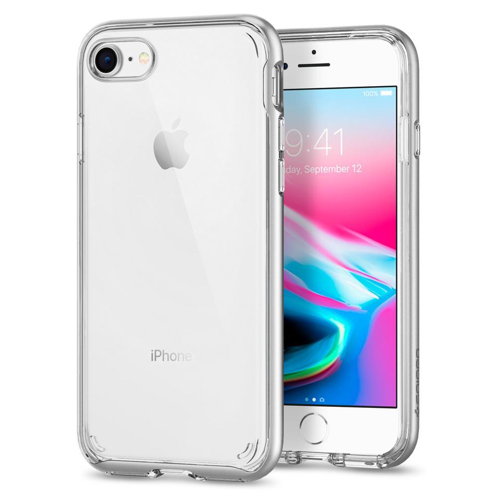 Ochranný kryt pro iPhone 7 / 8 - Spigen, Neo Hybrid Crystal 2 Silver