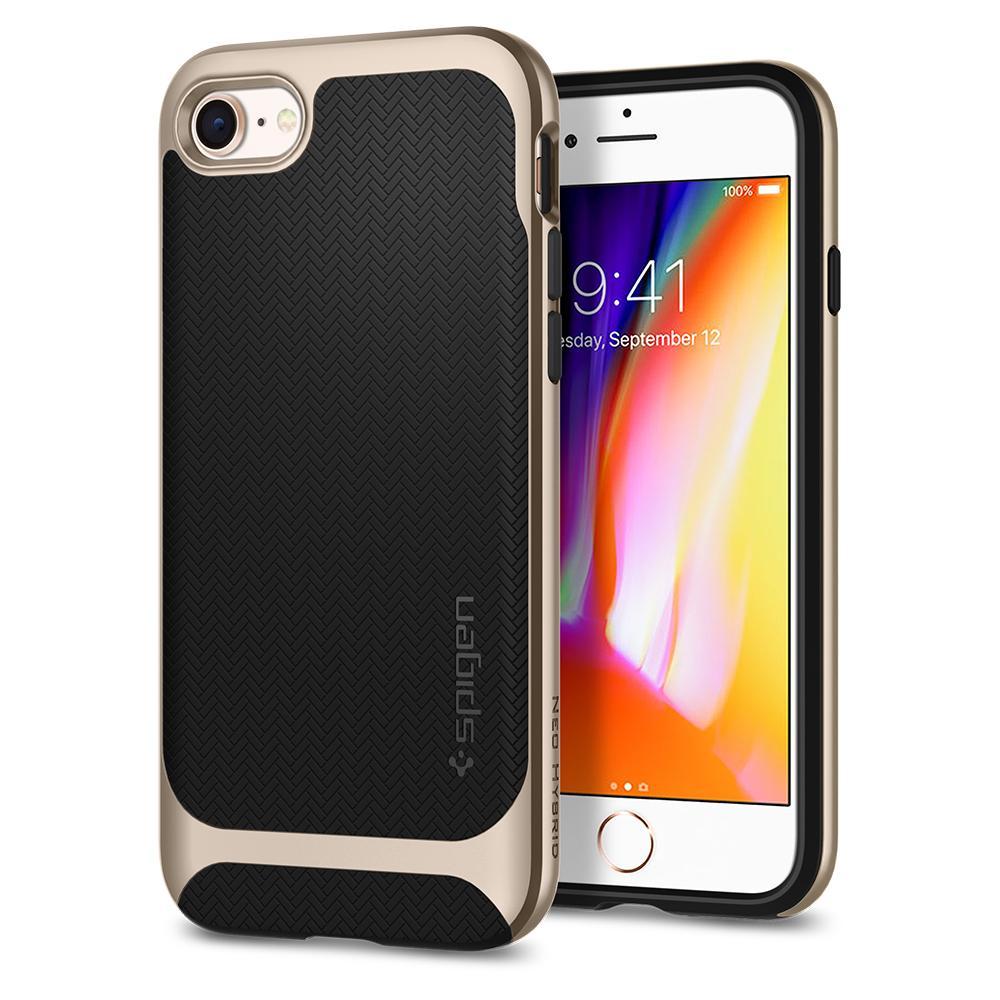 Ochranný kryt pro iPhone 7 / 8 - Spigen, Neo Hybrid Herringbone Gold