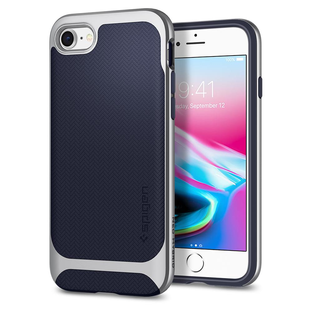 Ochranný kryt pro iPhone 7 / 8 - Spigen, Neo Hybrid Herringbone Silver