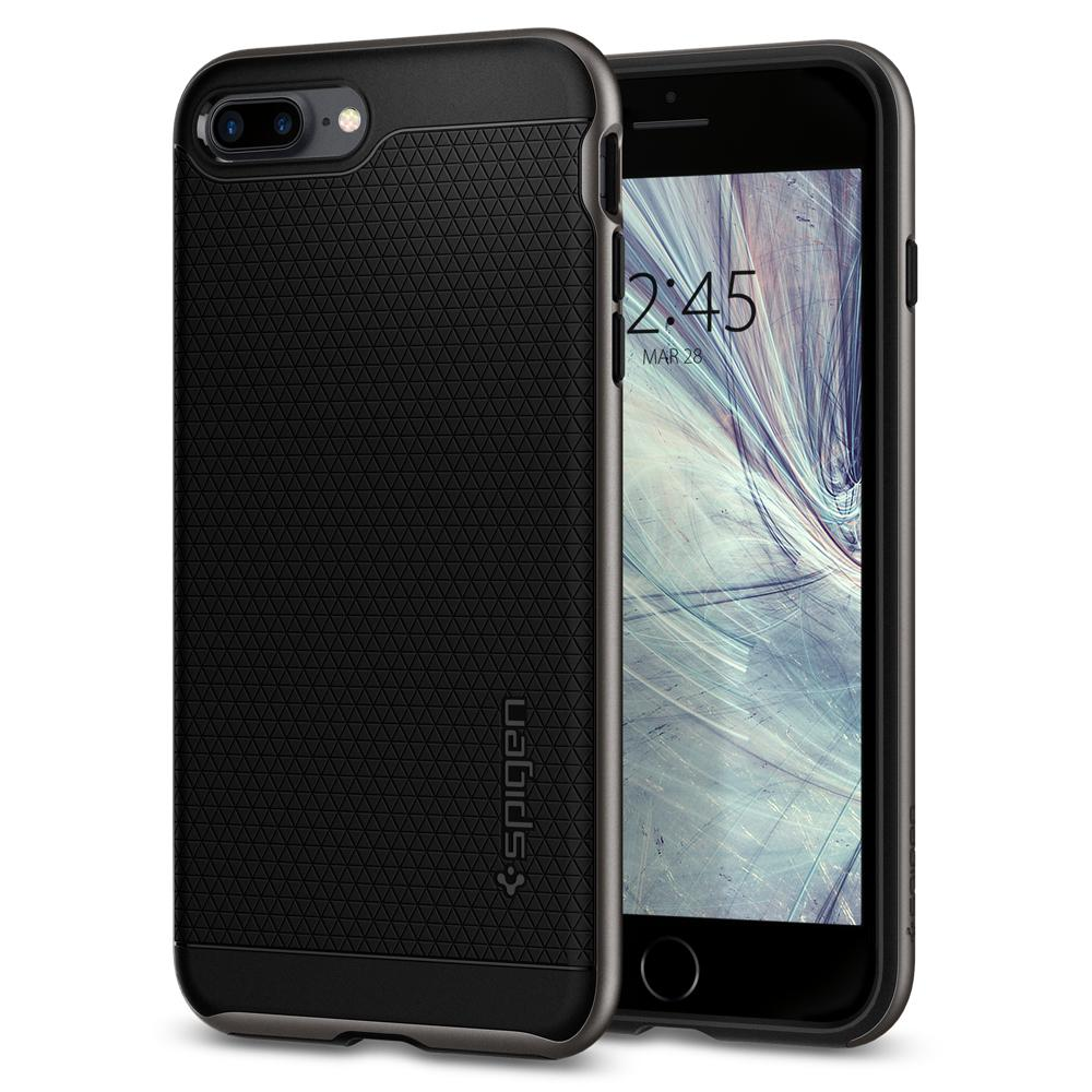 Ochranný kryt pro iPhone 7 PLUS / 8 PLUS - Spigen, Neo Hybrid 2 Gunmetal