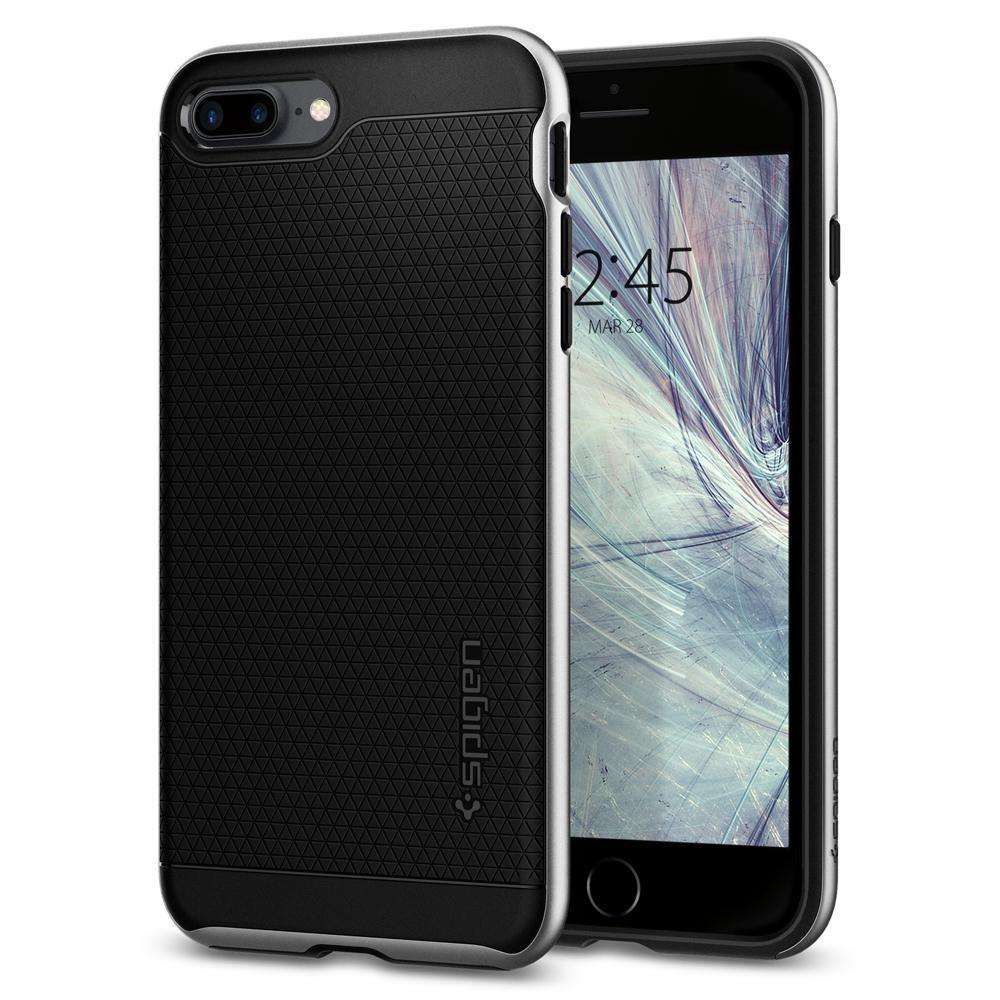 Ochranný kryt pro iPhone 7 PLUS / 8 PLUS - Spigen, Neo Hybrid 2 Satin Silver