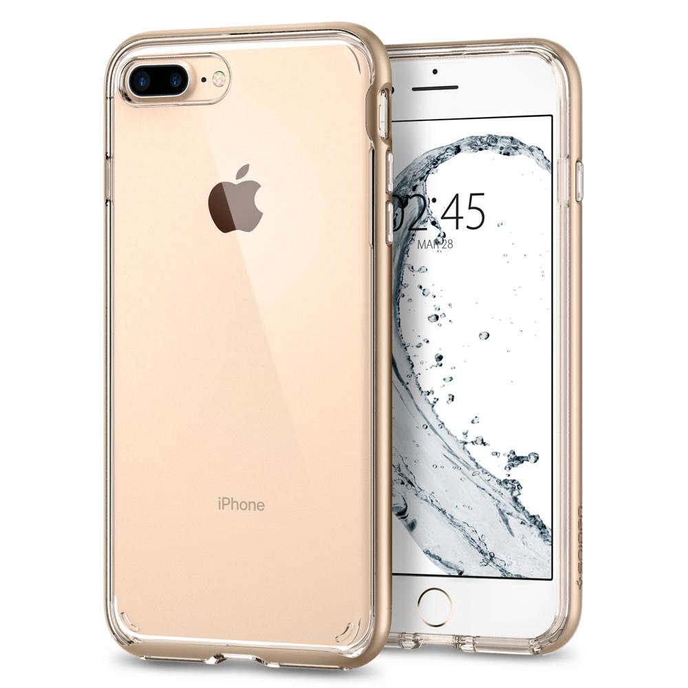Ochranný kryt pro iPhone 7 PLUS / 8 PLUS - Spigen, Neo Hybrid Crystal 2 Gold