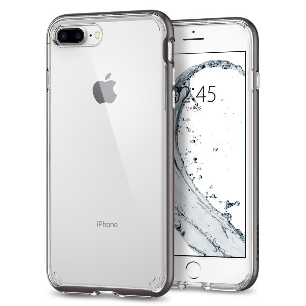 Ochranný kryt pro iPhone 7 PLUS / 8 PLUS - Spigen, Neo Hybrid Crystal 2 Gunmetal