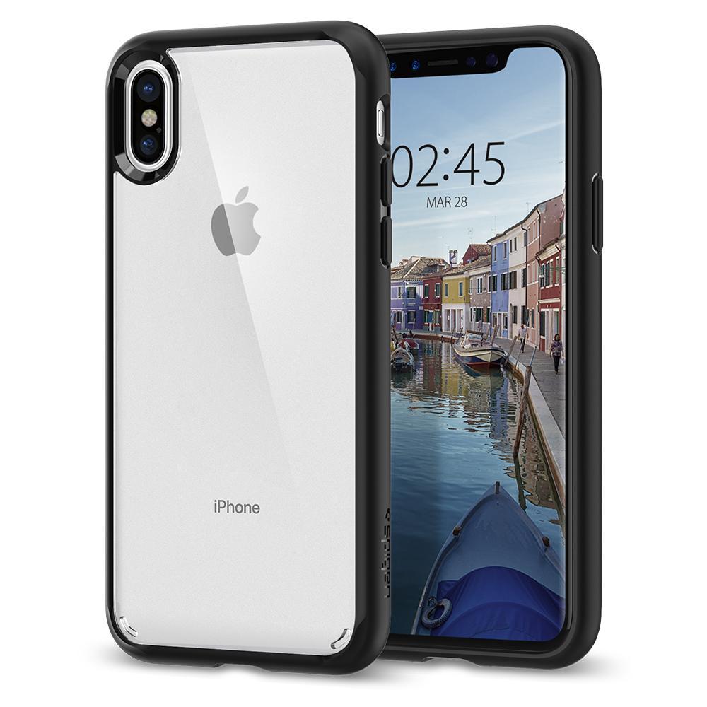 Ochranný kryt pro iPhone X - Spigen, Ultra Hybrid Black