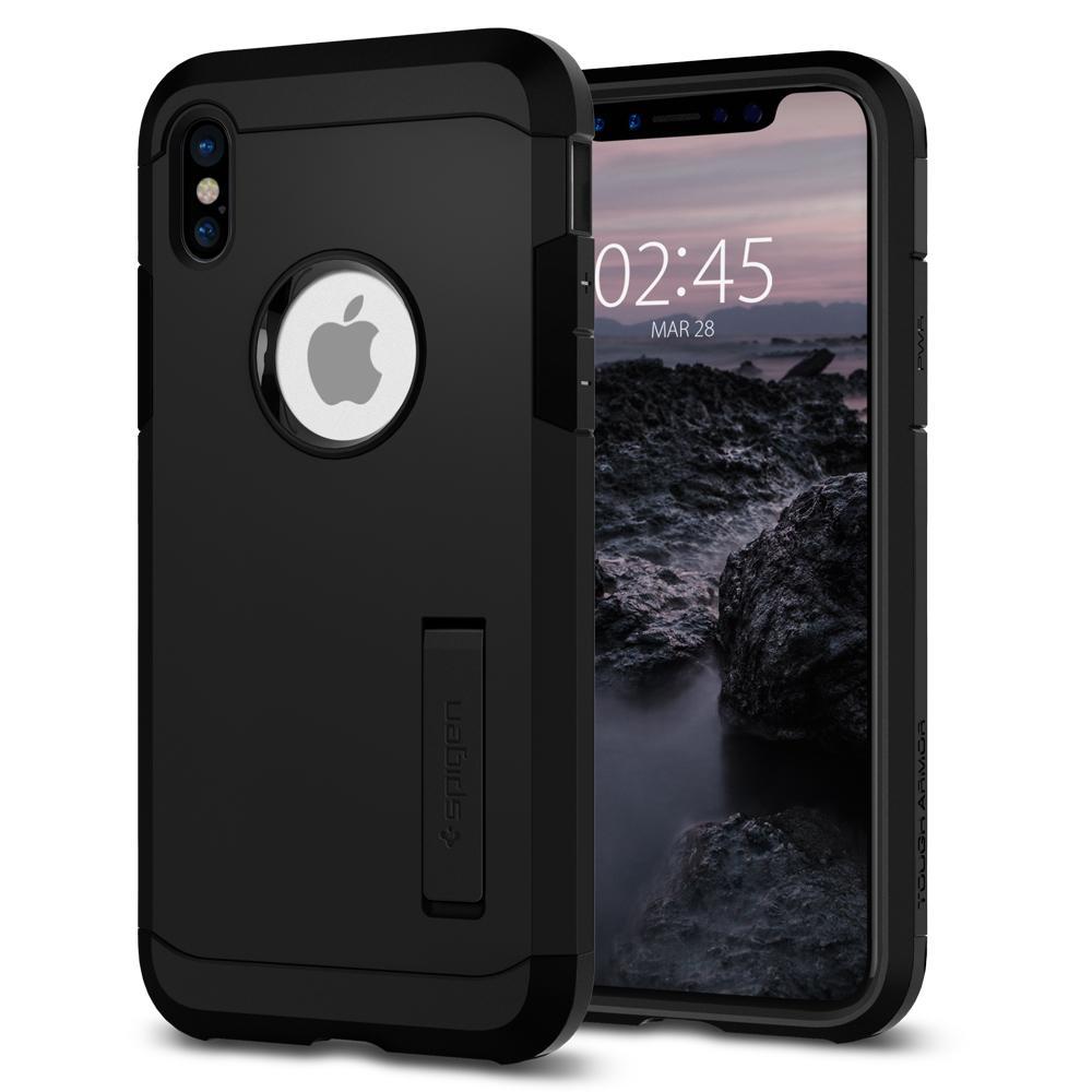 Ochranný kryt pro iPhone X - Spigen, Tough Armor Black