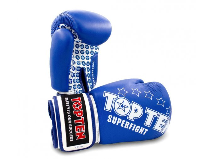 Boxerské rukavice Top Ten Superfight Stars modrábílá