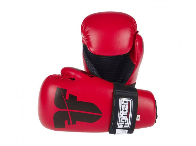 otevřené rukavice fighter strap červená