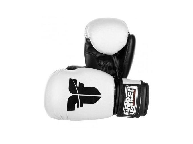 BOXERSKÉ RUKAVICE FIGHTER BASIC White (Barva Bílá, Velikost 10oz)