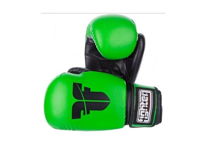 BOXERSKÉ RUKAVICE FIGHTER BASIC Green (Barva Zelená, Velikost 10oz)