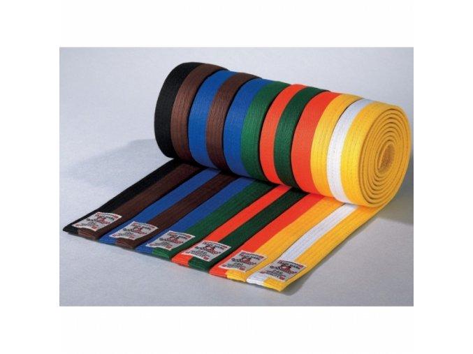 Pásek Danrho Dvoubarevny Obi (Velikost 220, Barva BÍLO - ŽLUTÁ)