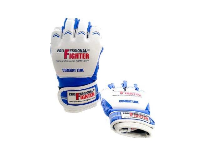 Professional Fighter MMA rukavice Combat Line Blue (Barva Modrá, Velikost XL)