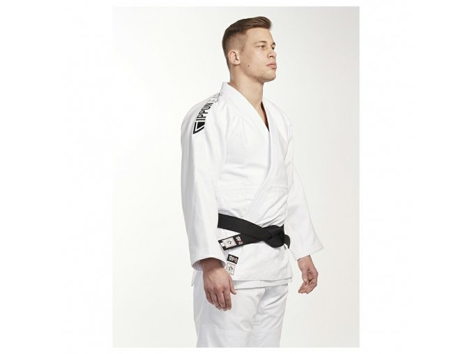 Ippon gear kabátek na judo Legendd Slimfit bílý