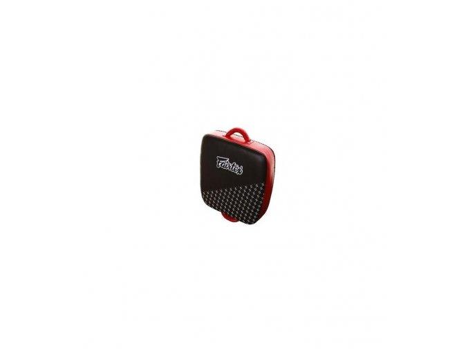 fairtex leg kick pad black red ff