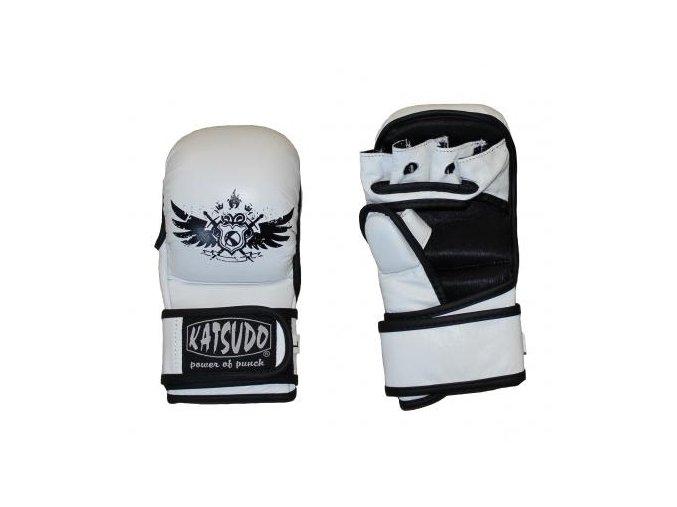 KATSUDO MMA RUKAVICE TRAINING TATTO White