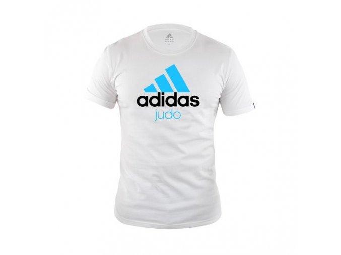Triko Adidas Community Line Judo bílo-modré (Velikost L)