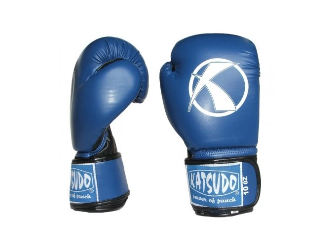Boxerské rukavice Katsudo Punch II Blue (Barva Modrá, Velikost 10oz)