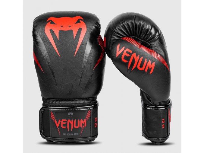 Boxerské rukavice Venum Impact černo červená