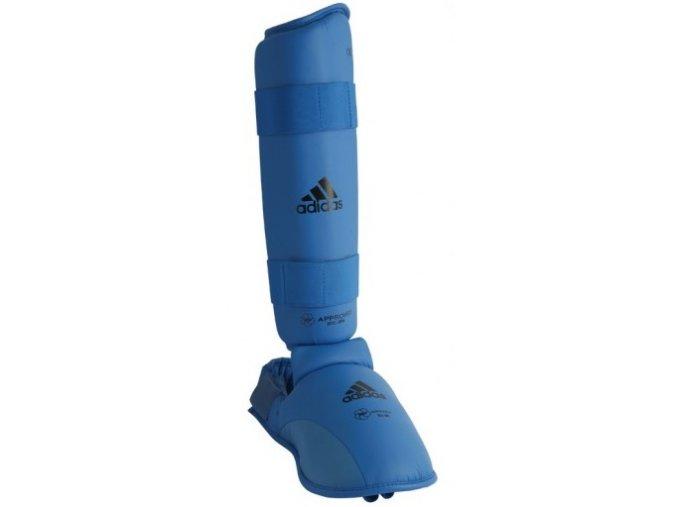 Chránič holeň a botička Adidas WKF Blue (Barva Modrá, Velikost XL)