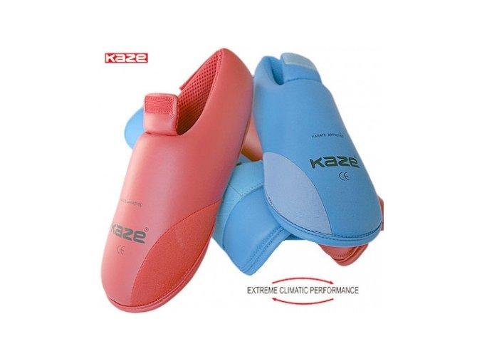 Chránič nohou Kaze Karate červená (Barva ČERVENÁ, Velikost S)