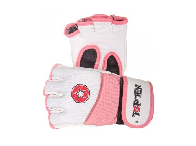 Top Ten MMA rukavice Gel (Velikost M, Barva RŮŽOVÁ)