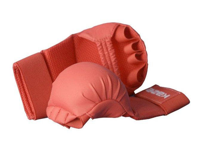 Kaze Karate chrániče - Tsuki červená (Barva ČERVENÁ, Velikost S)