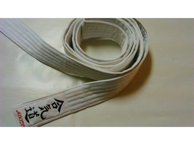 Pásek Ippon Aikido Obi (Velikost 220, Barva ČERNÁ)