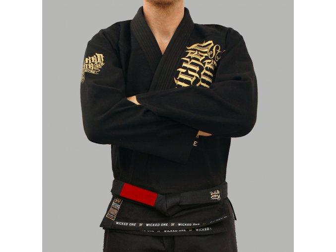 Wicked One kimono Jiu Jitsu Gold Noir (Barva ČERNÁ, Velikost A3)