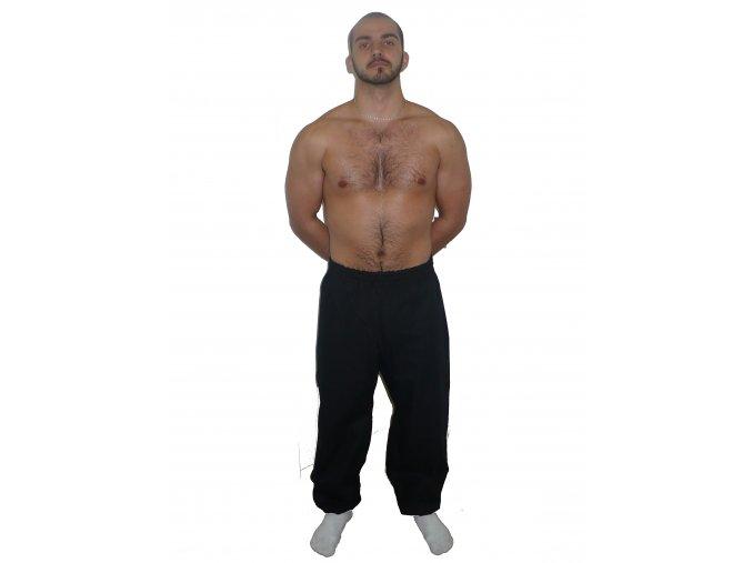 Ippon kalhoty Kung-fu  nohavice s úpletem (Velikost 120, Barva ČERNÁ)