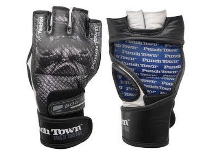 Punch Town MMA rukavice Karpel Ryushin (Velikost L, Barva ČERNÁ)