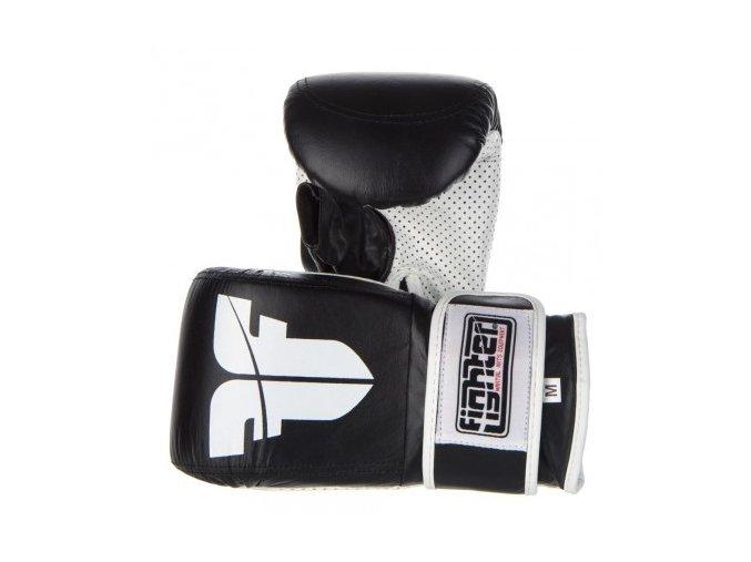 Pytlové rukavice Fighter Velcro (Velikost L, Barva ČERNÁ)