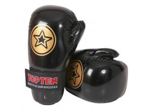 Otevřené rukavice Top Ten Point Fighter (Barva ČERNÁ, Velikost S)