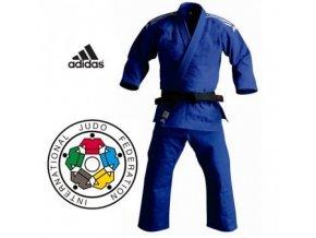 ADIDAS KIMONO JUDO CHAMPION SLIM IJF 2015 Blue (Barva Modrá, Velikost 165)