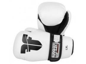 Otevřené rukavice Fighter PU White (Barva Bílá, Velikost XS)