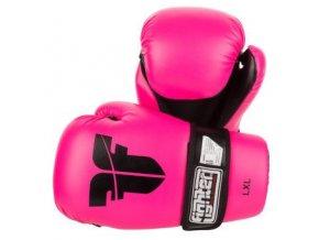 Otevřené rukavice FIGHTER PU Pink (Velikost L/XL, Barva RŮŽOVÁ)