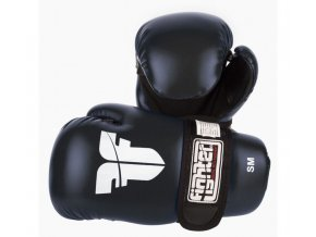 Otevřené rukavice FIGHTER PU Black (Barva ČERNÁ, Velikost S/M)
