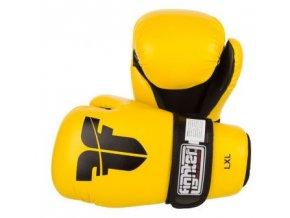 Otevřené rukavice FIGHTER PU (Barva ŽLUTÁ, Velikost XS)