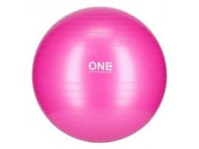 Gymnastický míč ONE Fitness Gym Ball 10 růžový, 55 cm