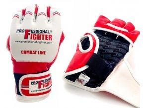 Professional Fighter MMA rukavice Combat Line Red (Barva ČERVENÁ, Velikost S)