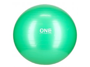 Gymnastický míč ONE Fitness Gym Ball 10 zelený, 65 cm