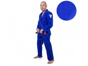 Fighter kimono BJJ rip stop modrá