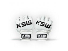 ksw mma rukavice white kůže