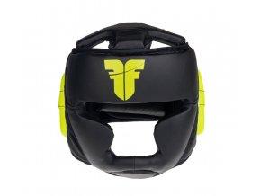 Přilba Fighter Sparring černá neon žlutá