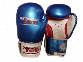 Boxerské rukavice Professional Fighter Gel Blue (Barva Modrá, Velikost 12oz)