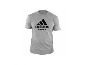 Triko Adidas ComLine Boxing šedo-černé (Velikost L)
